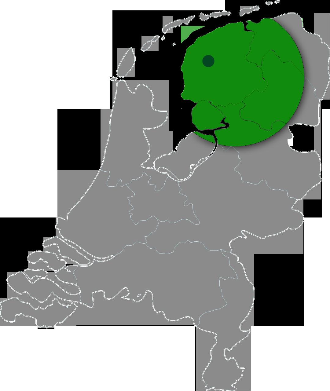 Ons werkgebied is Friesland en Groningen